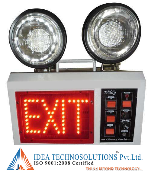 Emergency Light with Exit LED